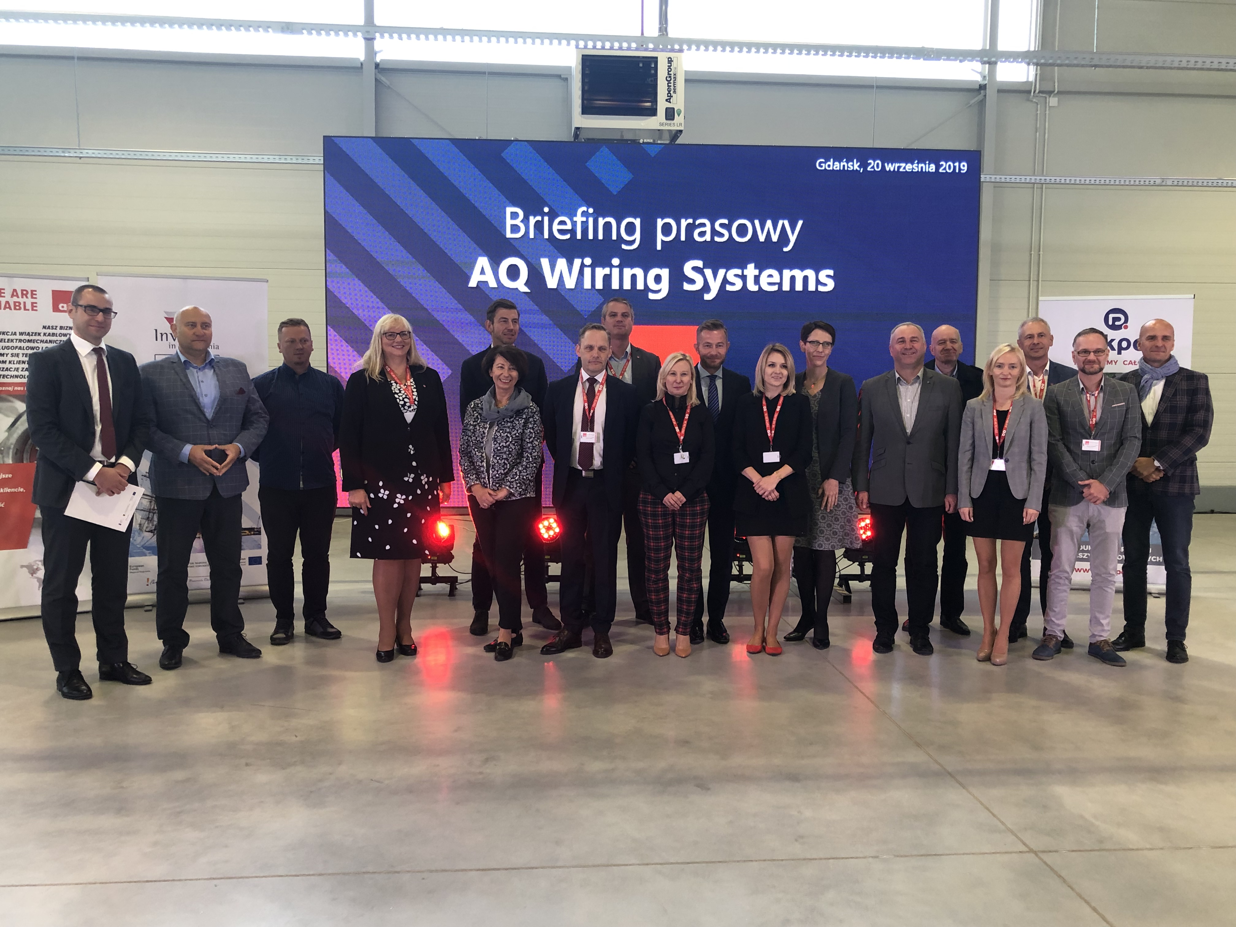 dignitaries at the launch of AQ  wiring's new plant in Staro