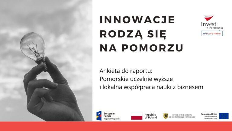 Raport o innowacyjności pomorskich uczelni – zaproszenie do badania
